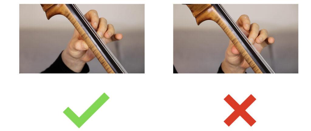 Placer sa main gauche au violoncelle